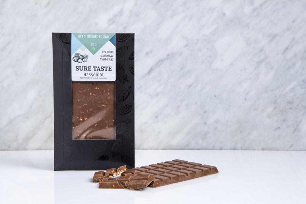 Chokladkaka Hasselnöt